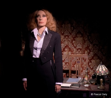 A scene of Berlin Kabarett written and directed by Stephan Druet with Marisa Berenson at the Theatre de Poche-Montparnasse in Paris - May 23, 2018. Une scene de Berlin Kabarett ecrit et mis en scene par Stephan Druet avec Marisa Berenson au Theatre de Poche-Montparnasse a Paris - le 23 mai, 2018.