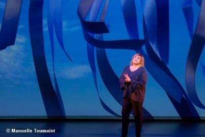 """Michèle Bernier, spectacle """"Vive demain!"""", mis en scène Marie-Pascale Osterrieth"""